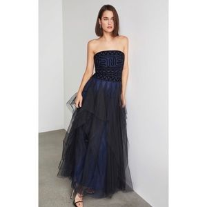 BGBG Strapless Embroidered Lace Gown